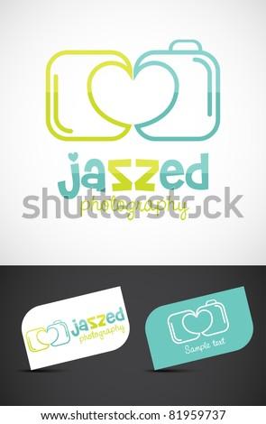 Abstract love/wedding photography icon such logo, vector EPS10. - stock vector
