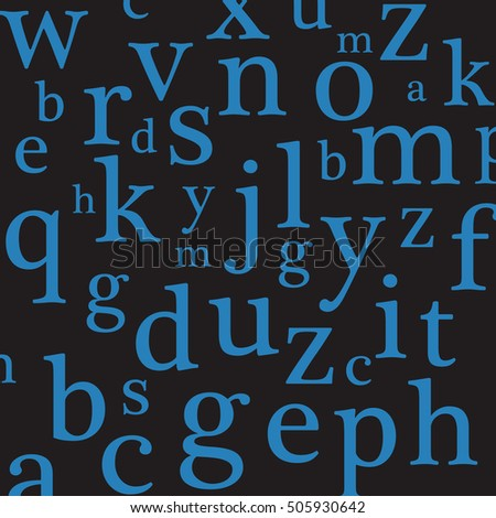Abstract Lowercase Alphabet Vector Background