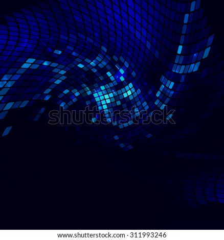 abstract luminescent  background with effect bokeh