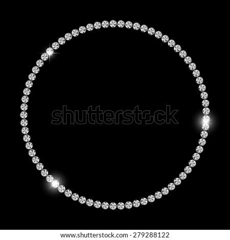 Abstract Luxury Black Diamond Background Vector Illustration EPS10 - stock vector
