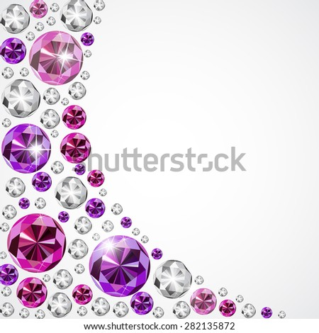 Abstract Luxury Diamond Background Vector Illustration EPS10 - stock vector