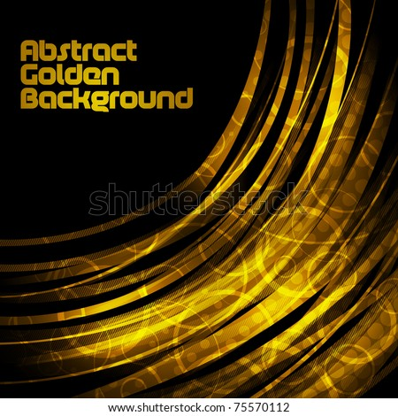 abstract luxury golden background - stock vector