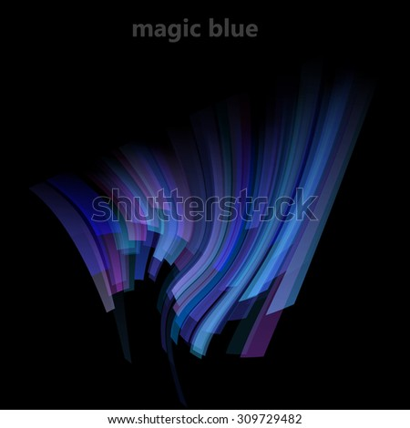 Abstract magic background with blue lines. Vector illustration  - stock vector
