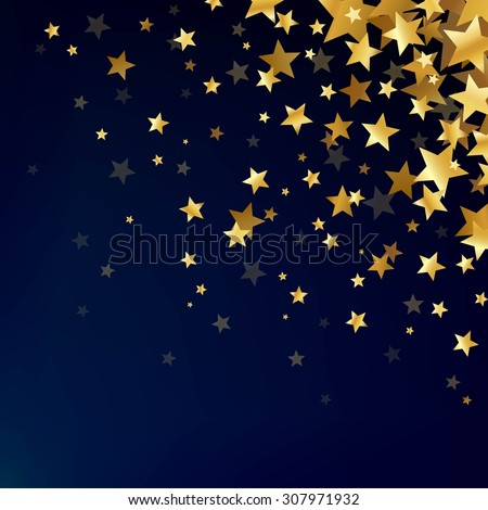 abstract magic background stars gold stars stock vector royalty