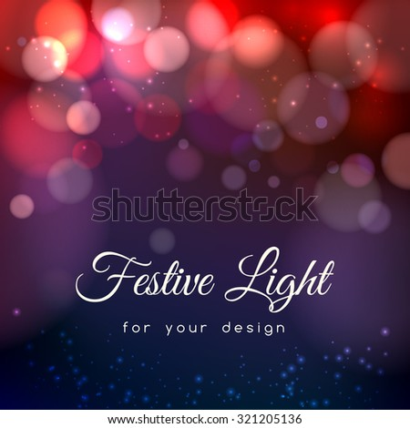 Abstract magic bokeh background. Effect blurred light, energy space, vector illustration - stock vector