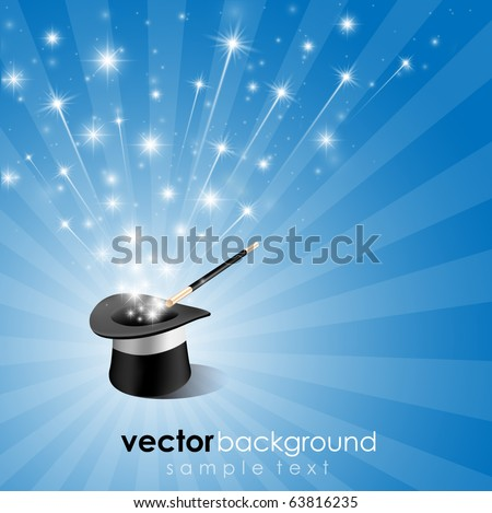 Abstract Magic Hat Background - stock vector