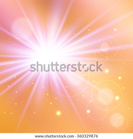 Abstract magic light background for your design - stock vector