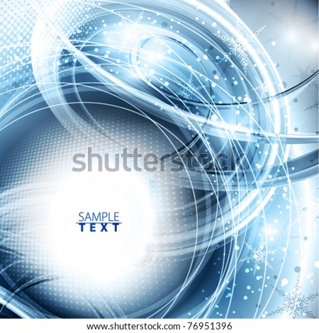Abstract magic winter shiny background. Vector - stock vector