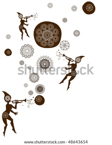 abstract magical background of the various elements - stock vector