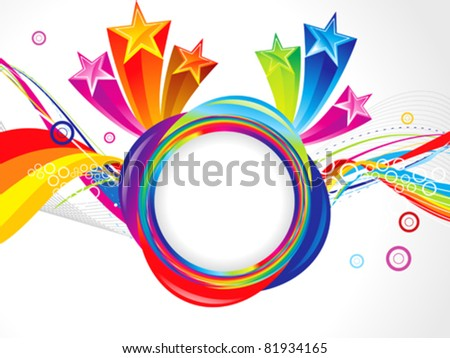 abstract magical explode template vector illustration - stock vector