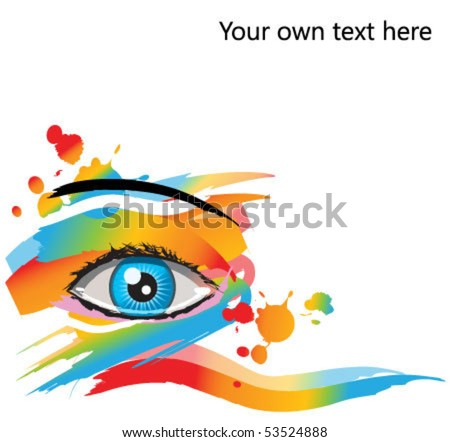 abstract makeup vector eye. For beauty, spa, and fashion concepts - stock vector