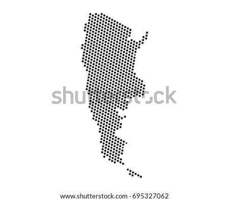 High Detailed Blue Map Argentina Vector Stock Vector - Argentina global map