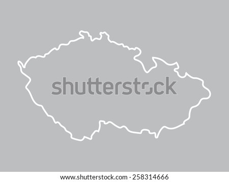 abstract map of Czech Republic