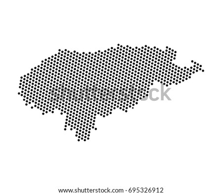 Abstract map honduras dots planet lines vector de stock695326912 abstract map of honduras dots planet lines global world map halftone concept vector gumiabroncs Gallery