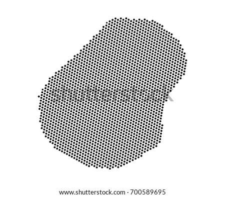Abstract Map Nauru Dots Planet Lines Stock Vector - Nauru map vector