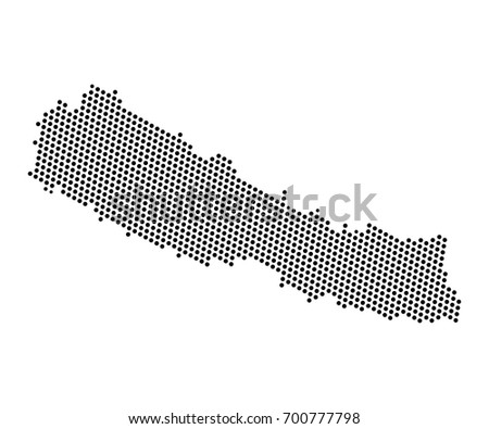 Abstract map nepal dots planet lines stock vector 700777798 abstract map of nepal dots planet lines global world map halftone concept vector sciox Gallery
