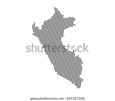 Abstract blue map korea dots planet vectores en stock 1012494733 abstract map of peru dots planet lines global world map halftone concept vector gumiabroncs Images
