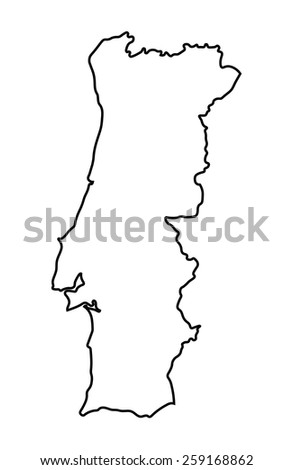 abstract map of Portugal - stock vector