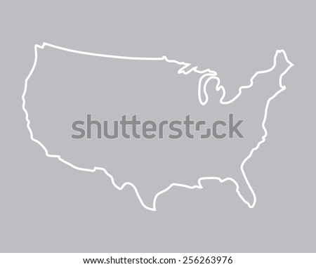 abstract map of United States - stock vector