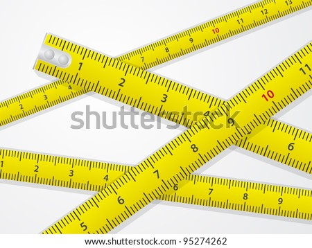 abstract measure tape background - stock vector