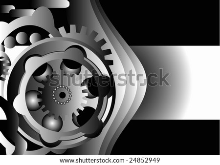 Abstract  mechanical  background - stock vector