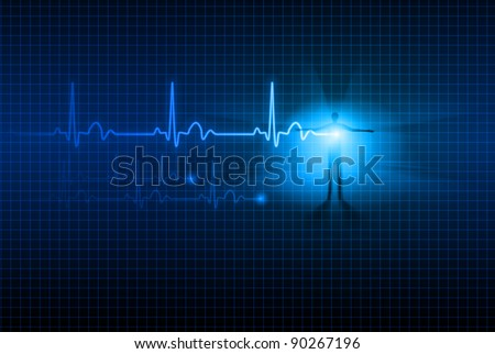 Abstract Medical background. ECG. Illustration for design. - stock vector