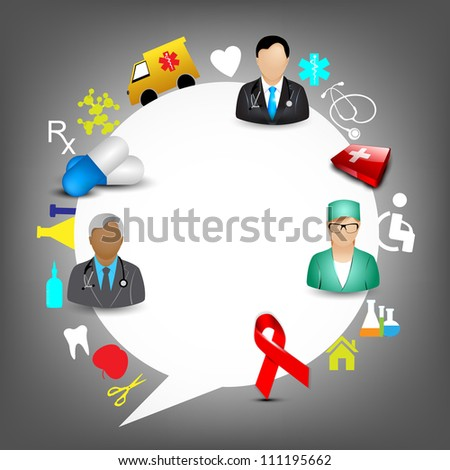 Abstract medical background. EPS 10. - stock vector