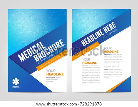 Abstract Medical Background Flyer Brochure Template Stock Vector - Medical brochure templates