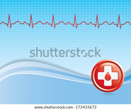 Abstract medical background  - vector - stock vector