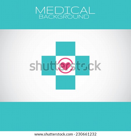 Abstract medical pharmacy sign background - stock vector