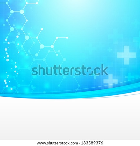 Abstract medical technology vector background with empty space background. layered. - stock vector