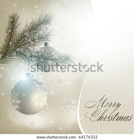 Abstract merry christmas background. Vector eps10 illustration - stock vector