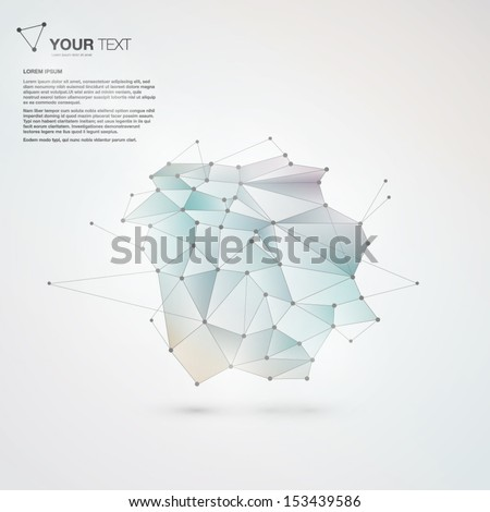 Abstract mesh background futuristic design - stock vector
