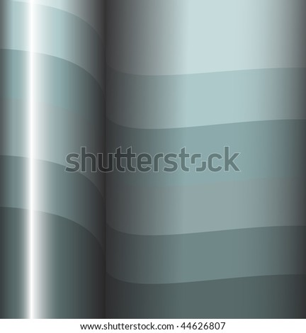 Abstract metal background - 3d stripes - stock vector