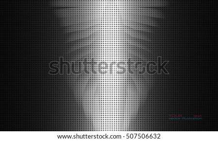 Abstract metal background, glow