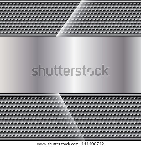 Abstract metal background on texture - stock vector