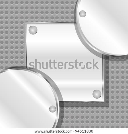 abstract metal plate steel vector background - stock vector