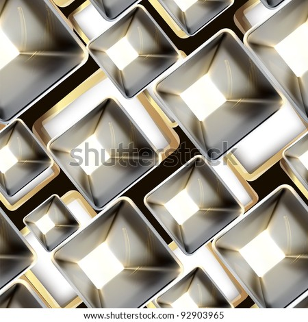 Abstract metal seamless pattern, vector - stock vector