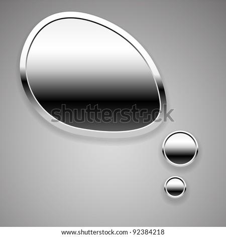 Abstract metal speech bubble - stock vector