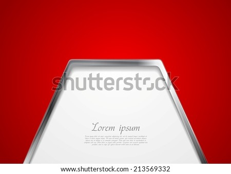 Abstract metal style background. Vector design template - stock vector