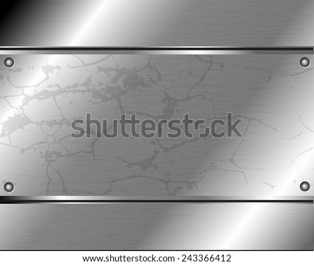 Abstract metallic background of steel plate for your design - stock vector