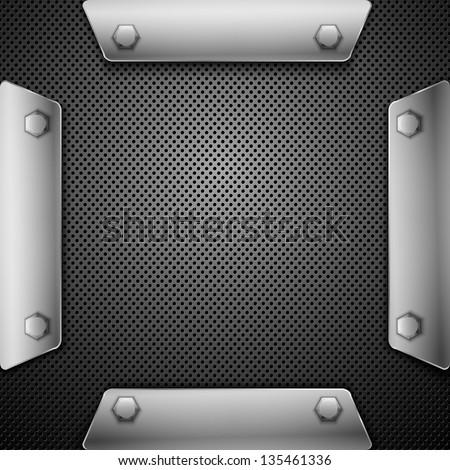 Abstract metallic background. Vector illustration. Eps10 - stock vector