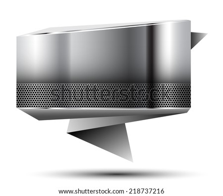 Abstract metallic banner. Illustration. Vector. - stock vector