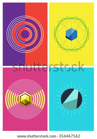 abstract minimal design background, geometric vector illustration
