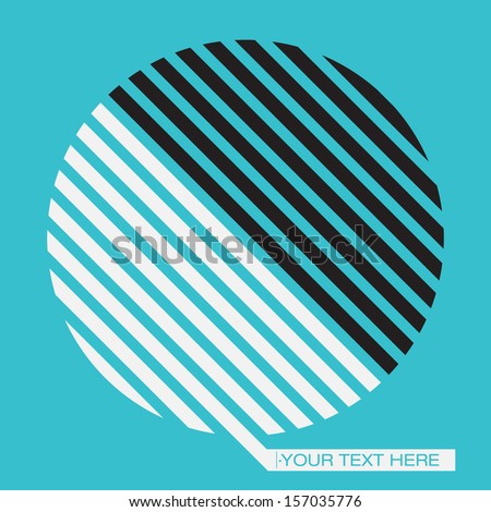Abstract Minimal Shape Vector Background - stock vector