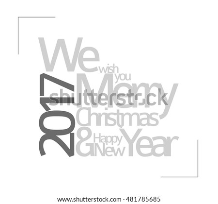 Abstract Minimalist Vector Typography Christmas Card Stock Photo ...