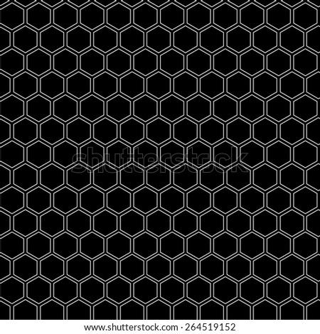 Abstract minimalistic black and white pattern hexagon, black and white, monochrome