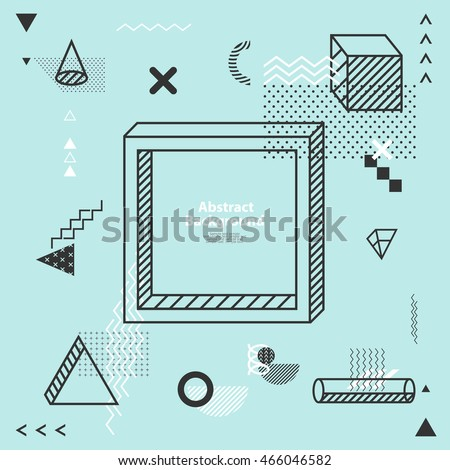 Abstract minimalistic flat background