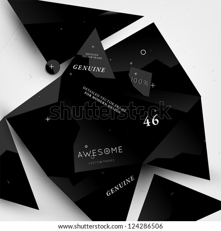 Abstract modern background for futuristic web design - stock vector