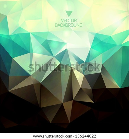 Abstract modern background with polygons/ polygonal vector - stock vector